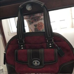 Coach Hampton signature zip satchel
